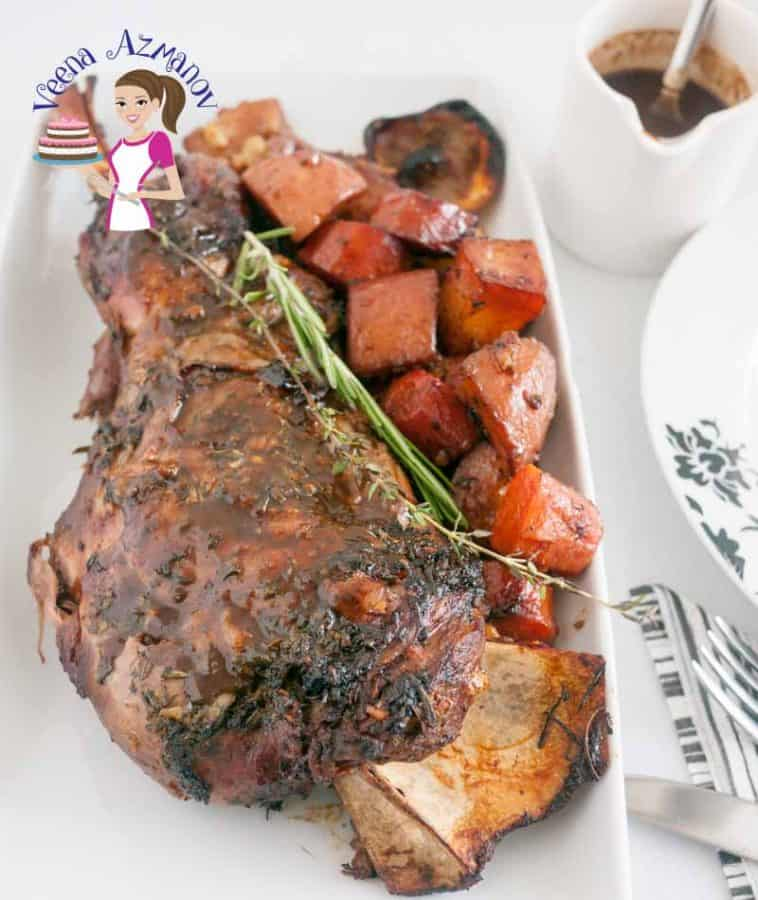 This succulent roast lamb shoulder is cooked low and slow keeping it soft and juicy. Infused with a mixture of fresh herbs such as rosemary, theme and cilantro and some robust red wine as a result you get a delicious gravy