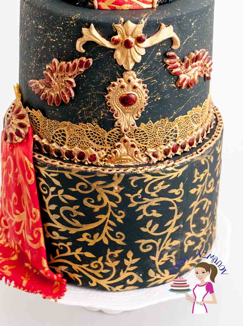 My contribution to the Brides around the world Collaboration - A Black Bridal Dress Cake. 31 International cake artists present bridal wear from different cultures & backgrounds.