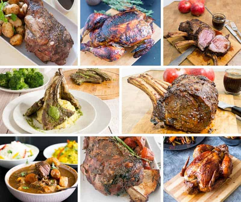 A collage of Christmas recipes.