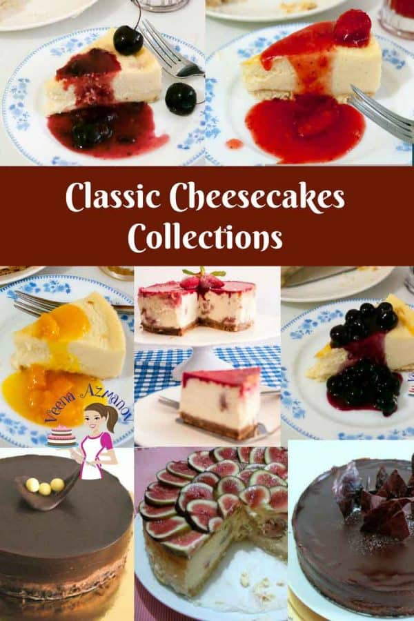 Classic Cheesecakes collections from the classic strawberry to scrumptious Chocolate to exotic blueberry or Fig Cheesecakes.