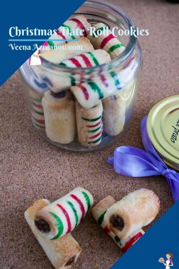 Pinterest image for date roll cookies
