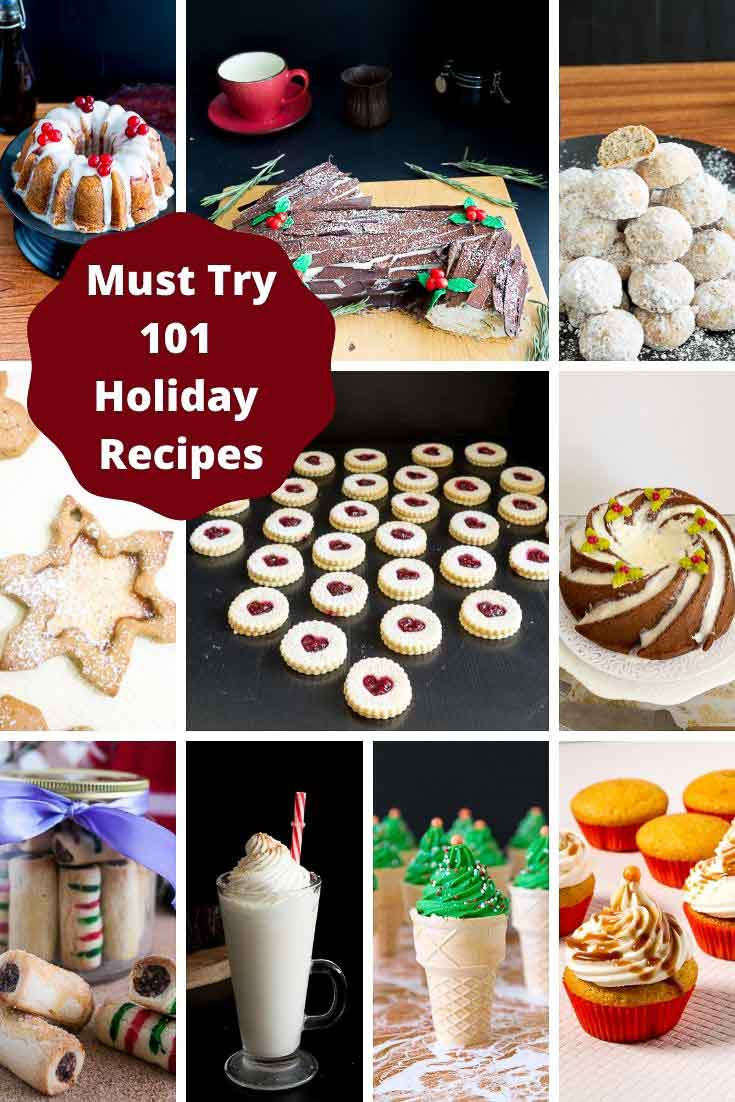 A collage of holiday recipes.