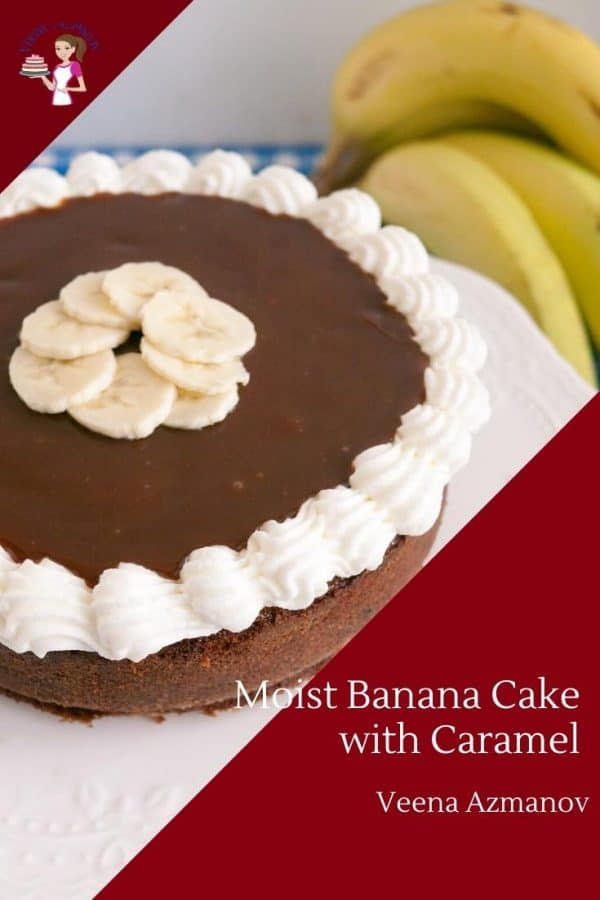 How to make a banana cake with caramel sauce and fresh bananas