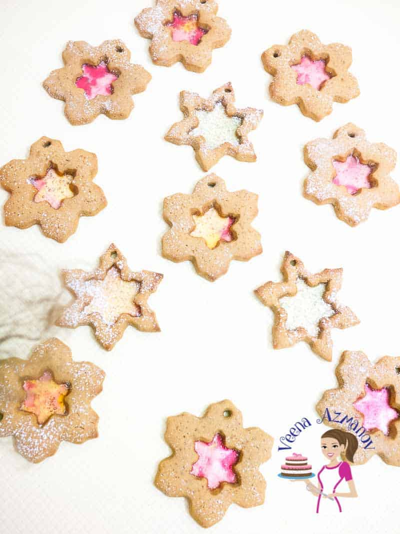 How to make Christmas Sugar Cookies with Gingerbread dough with a Snowflake Cookie Cutter