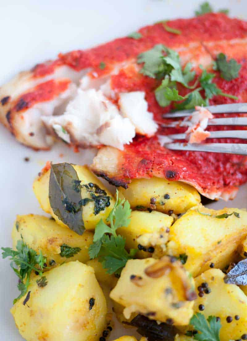 Baked Tandoori Fish in 15 minutes – Grilled Indian Fish