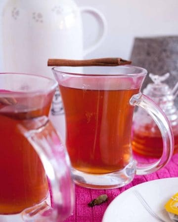 A glass of spice ginger tea.