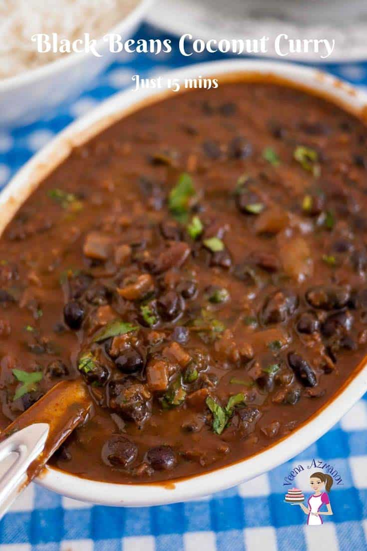 Black beans, Indian Curry, Black beans curry, Coconut Curry, 15 minutes