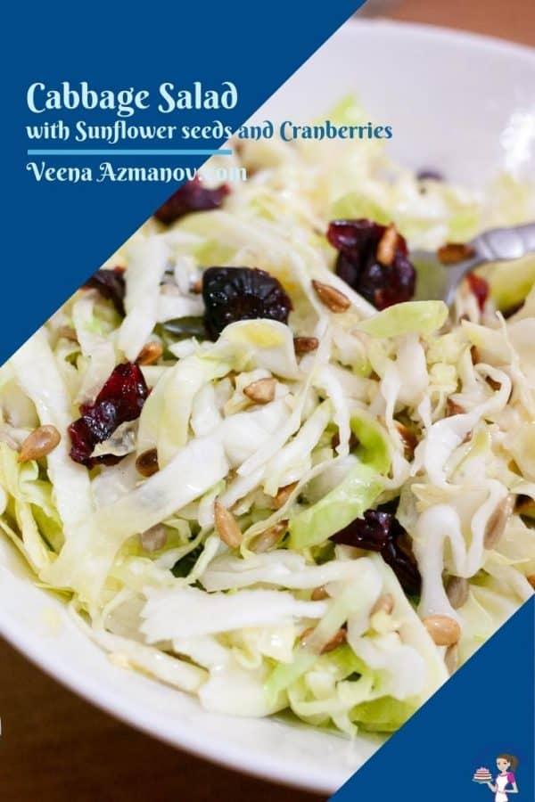 Pinterest image for cabbage salad