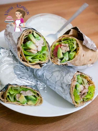 These healthy chicken wrap are simple, super easy and fun to make. The creamy avocado, salad with yogurt and mustard dressing is so super delicious I bet you will be making it more often then you plan.