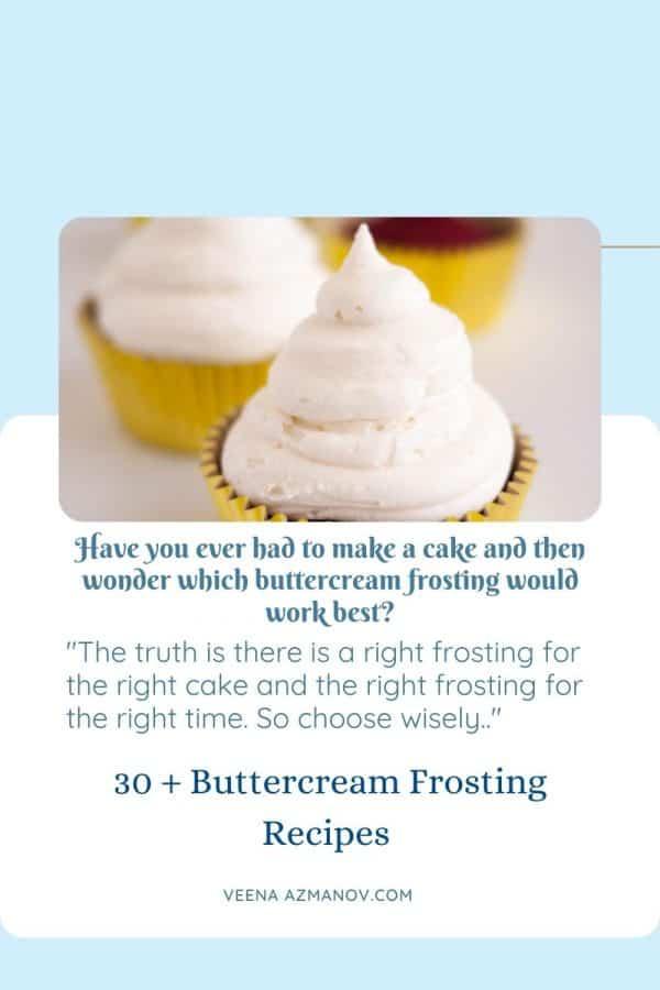 Pinterest image for best frosting recipes.