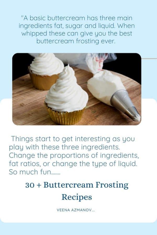 Best Buttercream Recipes Pinterest image.