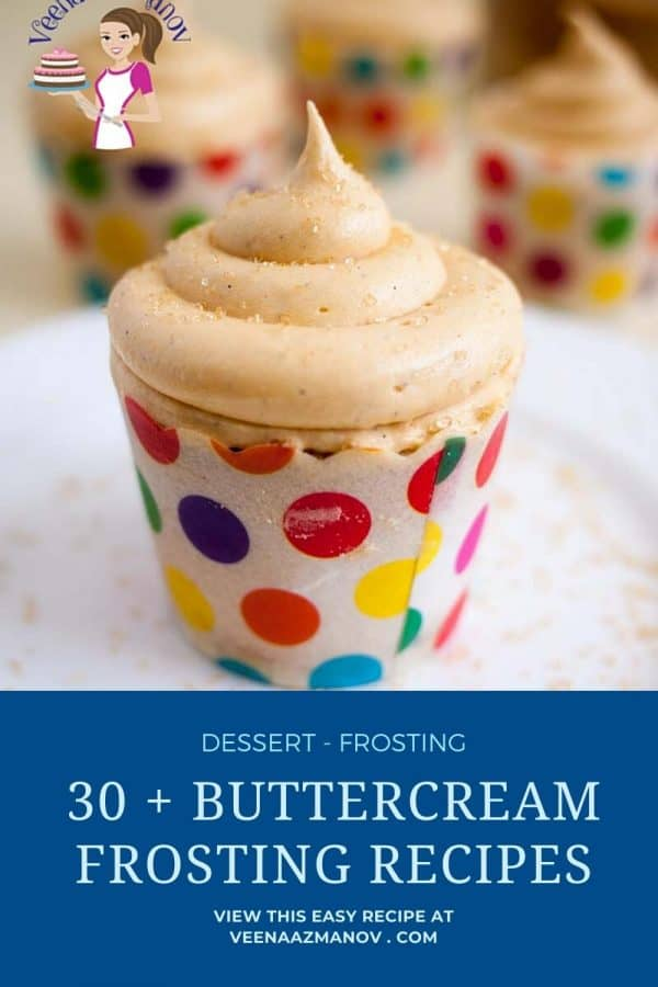 Pinterest image for frosting recipes.