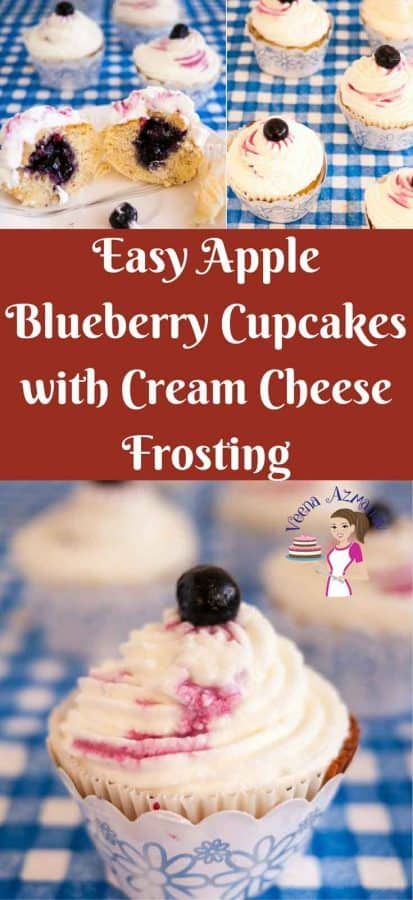 The sweet apple flavor and the tart Blueberry filling of these apple blueberry cupcakes is what really tastes these cupcakes a long way. A simple light and fluffy brown sugar vanilla batter with cinnamon flavored apples gives these an almost caramel like sweetness.