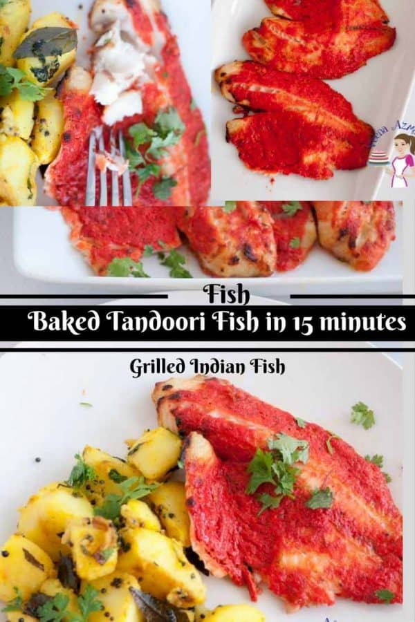 This baked Tandoori Fish is a Classic Indian recipe that is very popular. It's surprisingly easy and gets ready in about 15 minutes. While the simple spices flavor the fish, the yogurt in the marinade keeps the fish soft moist almost melts in your mouth.