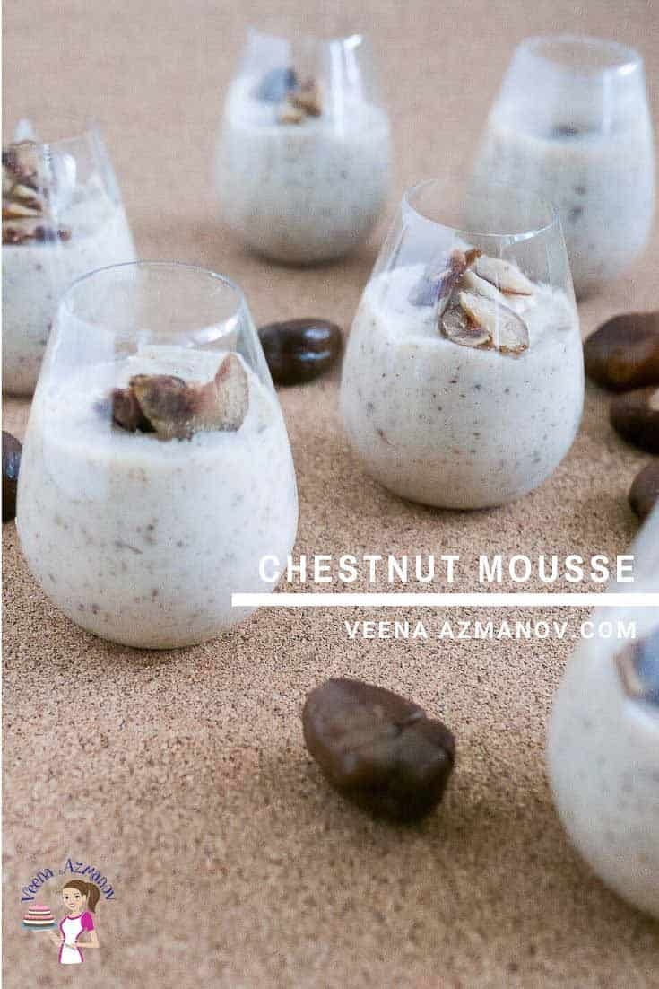 How to Make Homemade Mousse with Roasted Chestnuts
