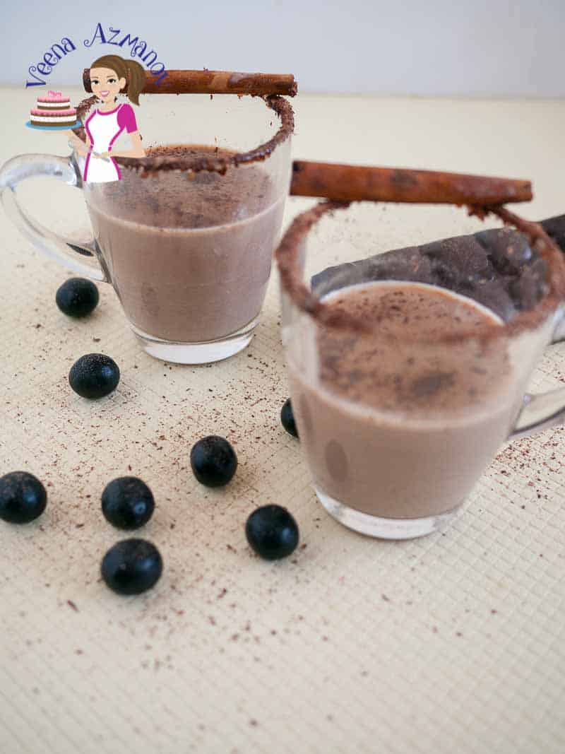 Homemade Cinnamon Mocha Hot Chocolate mix - Veena Azmanov