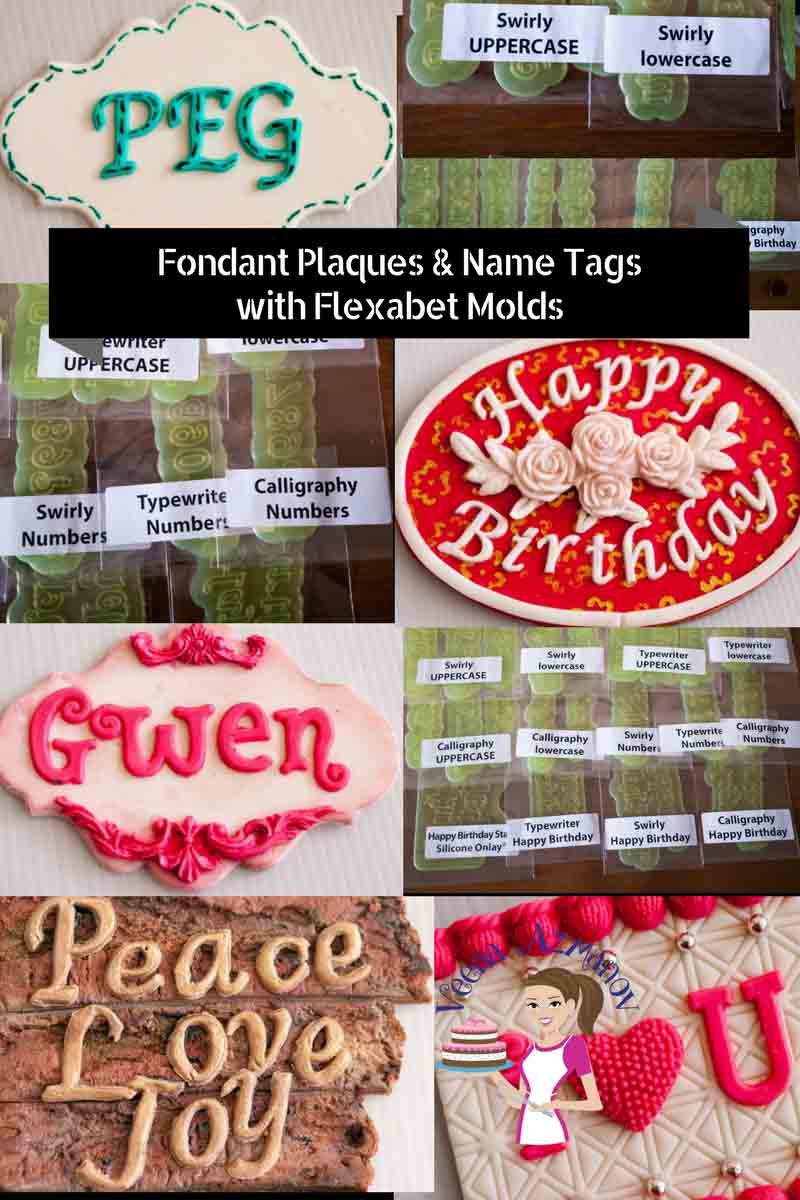A great way to add a little more to your cakes is to create unique and beautiful Fondant plaques and name tags. In this video I show you seven designs from vintage to stenciled so you can be more creative with your next cake.