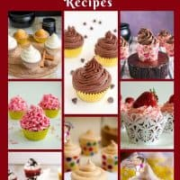 Over 30 homemade buttercream frosting recipes by Veena Azmanov all in one place.