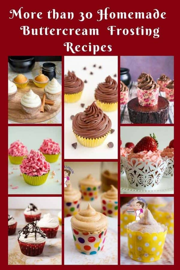 A collage of cupcakes.