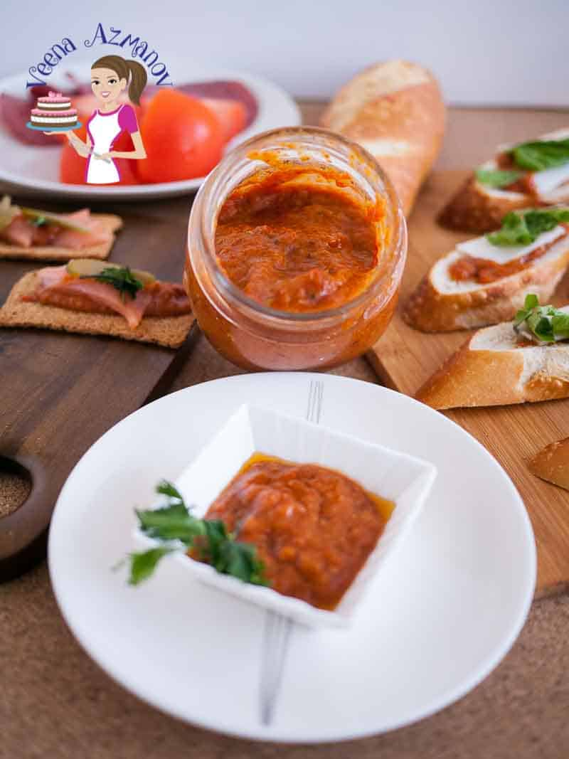A tepenade is a must have on hand for easy sandwich spreads, tortilla wraps and appetizers. This roasted red pepper garlic tepenade is our family favorite, super easy, quick and simple to make. You will be totally addicted to it.
