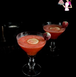 This strawberry vodka drink is made by infusing vodka with strawberry puree and topped with a tonic or soda water.