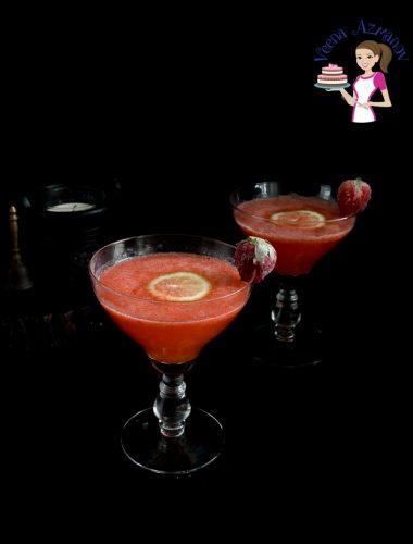 Strawberry vodka cocktail.