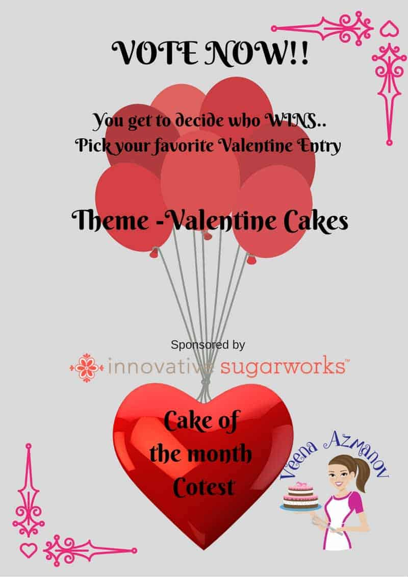 Valentine Cake Contest – Voting Starts Now!!