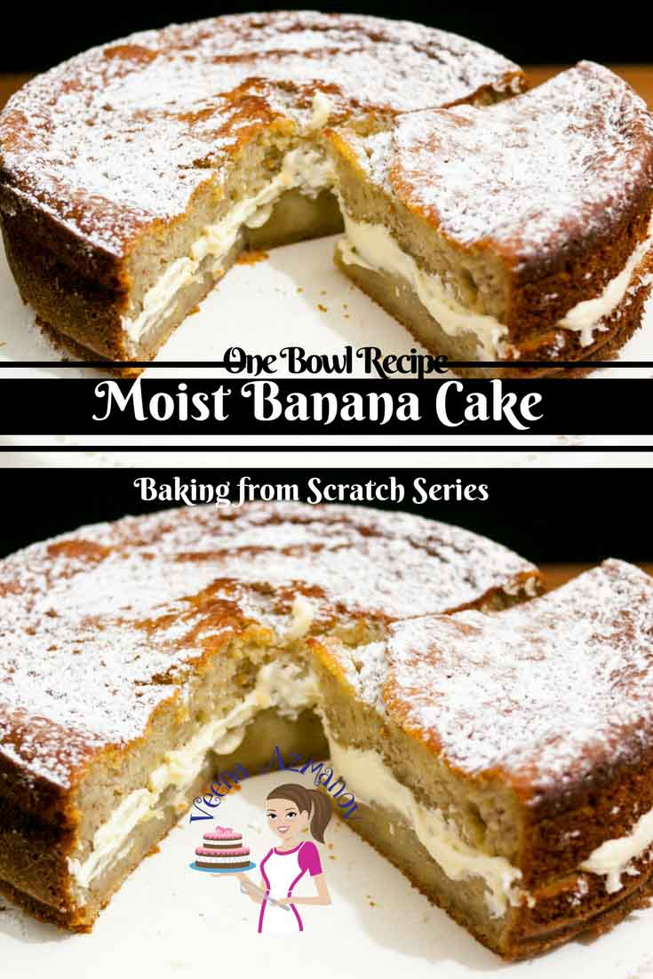 This moist Banana cake is my one bowl baking from scratch series recipe. It's simple easy and effortless that you will enjoy making over and over again. It taste delicious on it's own and yet you will love this whipped cream buttercream frosting.