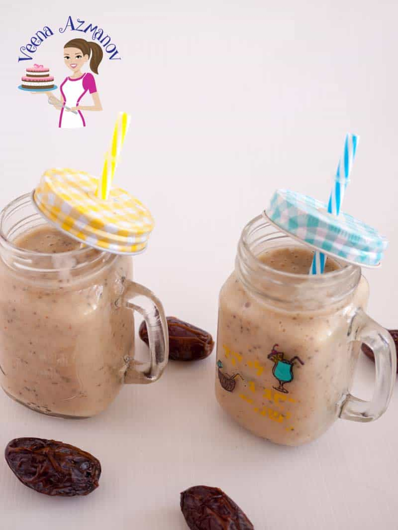 Banana Dates Chia Smoothie – Banana smoothie