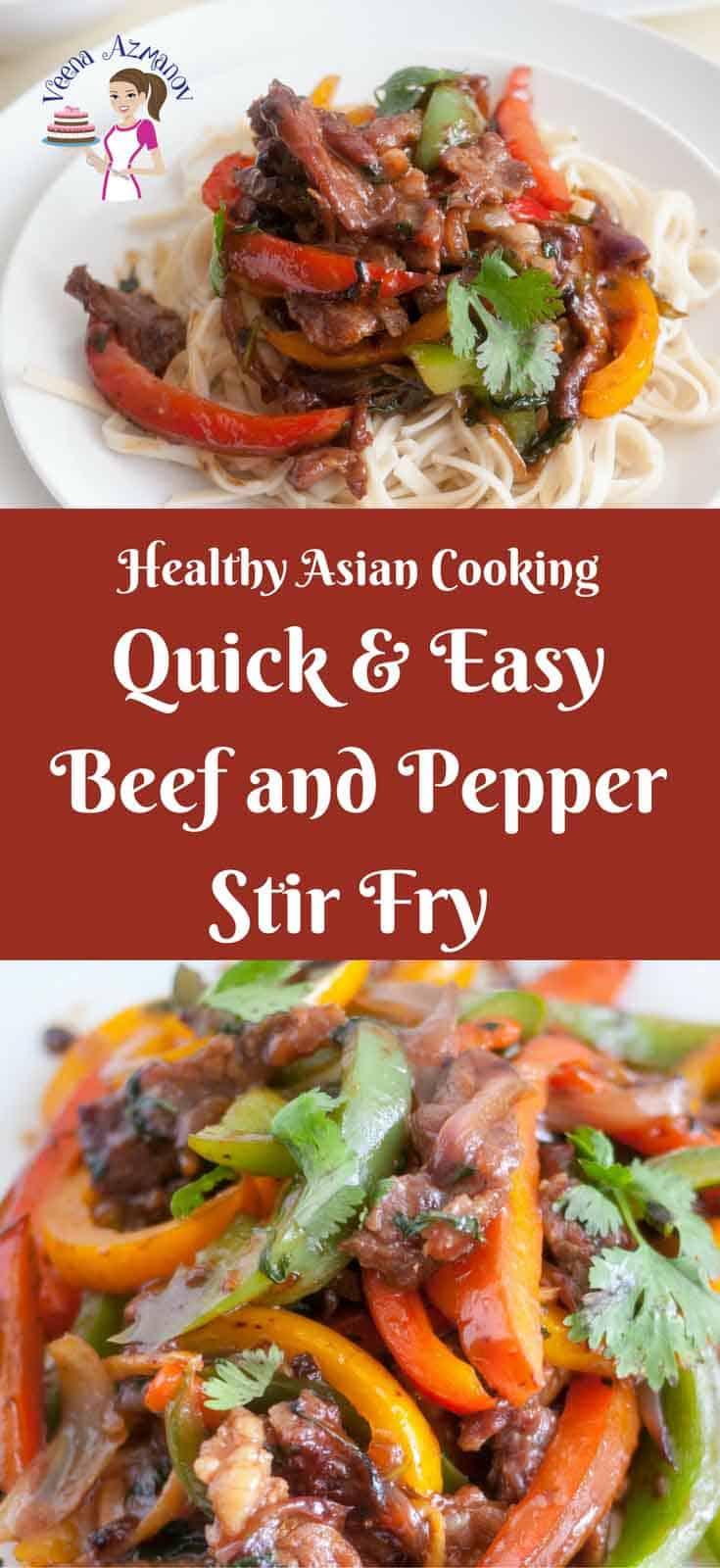 This Quick and Easy Beef and Pepper Stir Fry is a perfect weekday lunch or dinner. Use frozen veggies and your prep time is down to nothing. I love stir fry dishes as it gives more flavor in less time and effort and often more healthy too