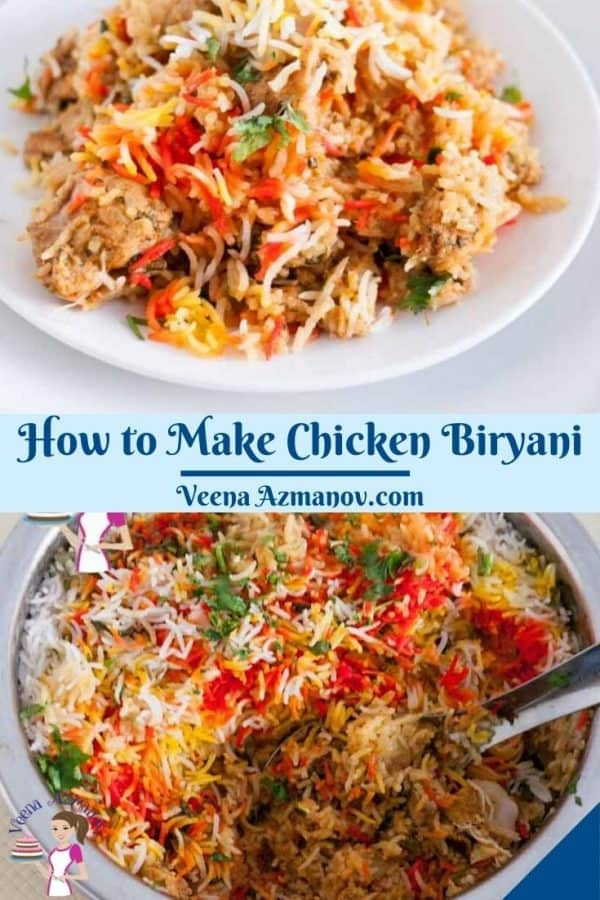 Pinterest image for Dum Biryani with Chicken
