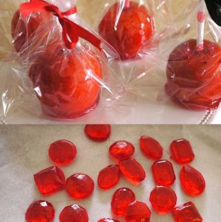 Candy gems for cake decorating.
