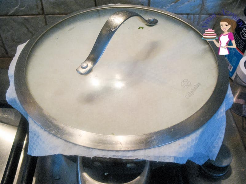 Cover the pan properly for chicken biryani Progress Pictures.