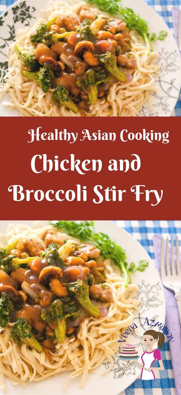 Chicken and Broccoli stir fry is a simple, quick and healthy meal option to get dinner in 15 minutes on busy days. If you use frozen veggies you prep time is down to almost nothing. How convenient in that?