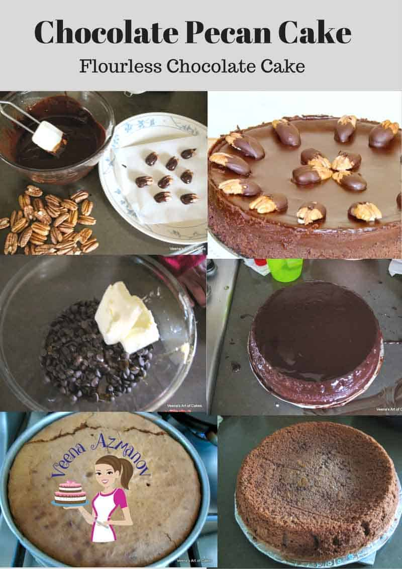 This Chocolate Pecan Cake is a luxurious flourless chocolate cake with all the goodness of pecans and chocolate. This also makes a perfect dessert for Passover or just when you need a gluten free dessert.