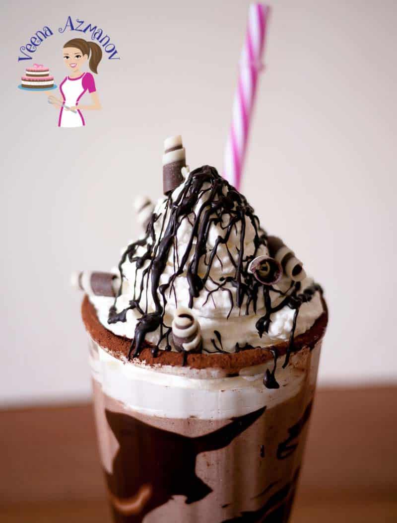 Cinnamon Chocolate Milkshake The Best EVER! - Veena Azmanov