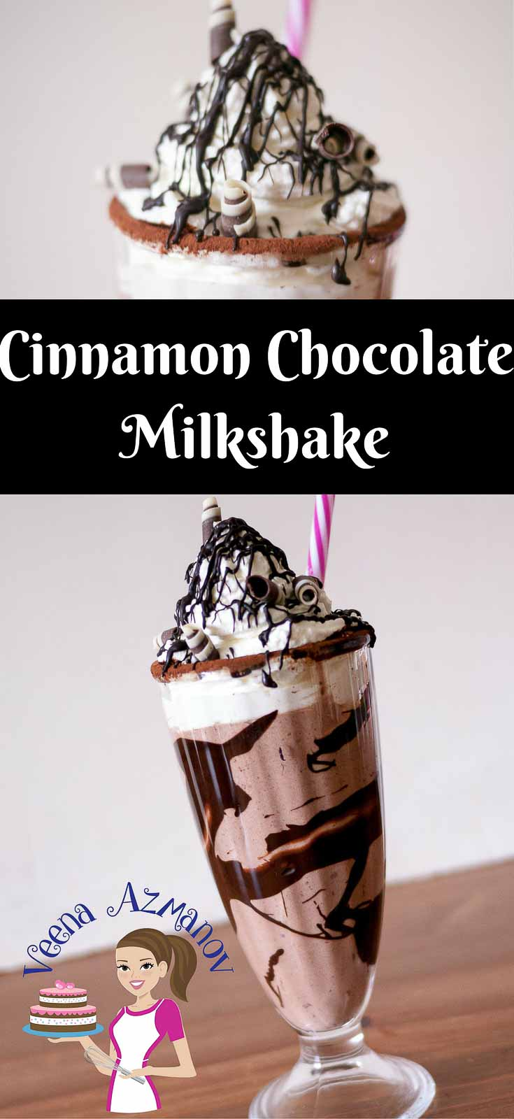 Cinnamon and Chocolate has always been a perfect combination. This Cinnamon Chocolate Milkshake become even better with some rich and indulgent ice cream and quick homemade chocolate sauce to top it off.