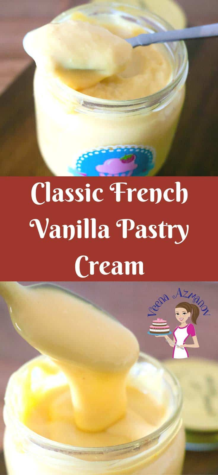 Classic French Vanilla Pastry Cream is a perfect base for many desserts such as fruit tarts, mousses, Bavarian Creams Ice-cream etc. Made by tempering Egg yolks to achieve a velvety, smooth, creamy and silky cream that almost melts in your mouth.