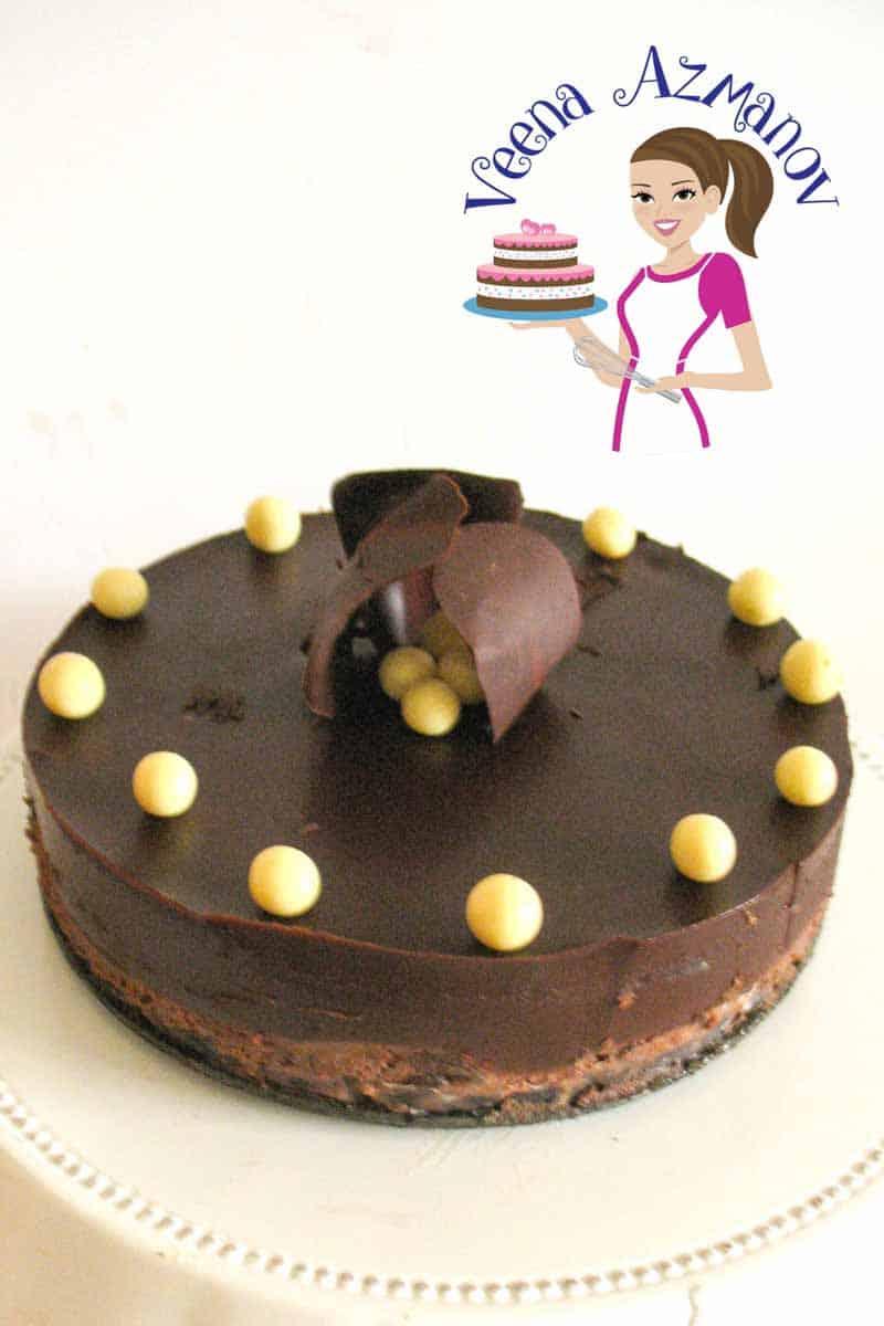 Scrumptious Dark Chocolate Cheesecake Recipe - Veena Azmanov