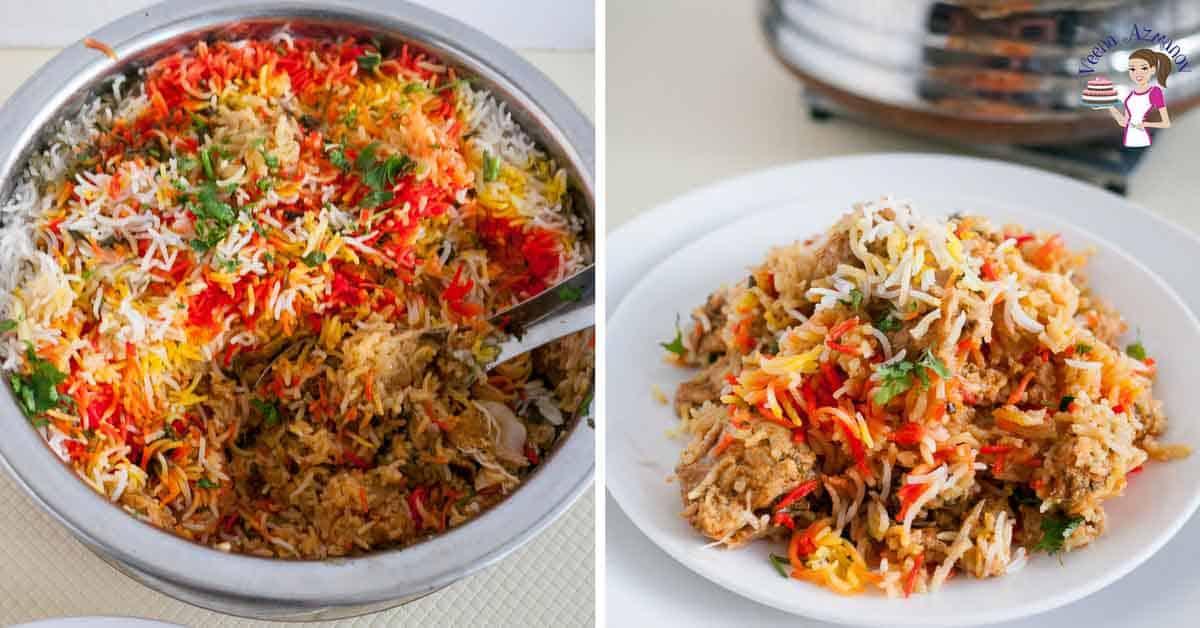 Easiest Indian Chicken Biryani In Three Easy Steps Veena Azmanov