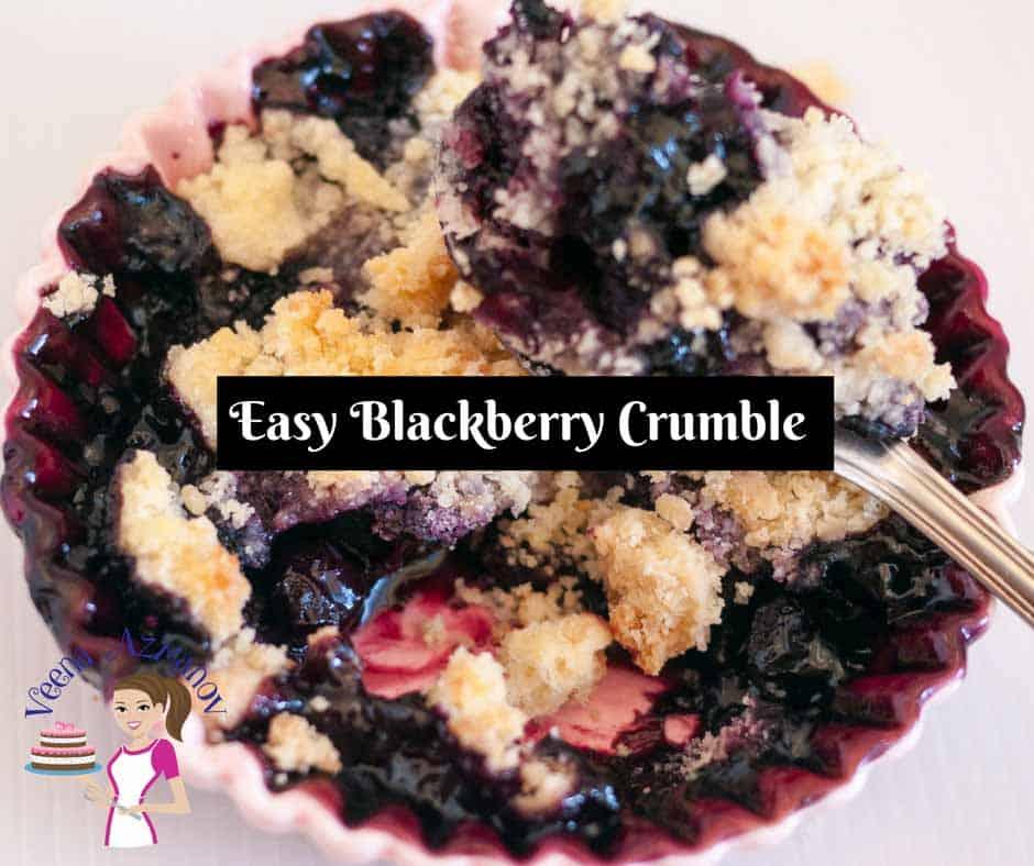 Easy Blackberry Crumble