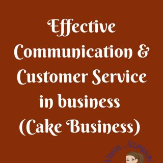 Just as cake decorating is a skill; effective communication and customer service in cake business withcustomers is a skill. Talking to customers is what helps you get or loose business. Right? It's what helps keep your customers coming back even when they do not order a cake from you.