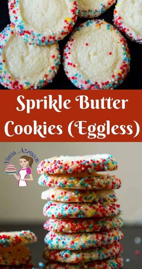 A stack of sprinkle cookies.