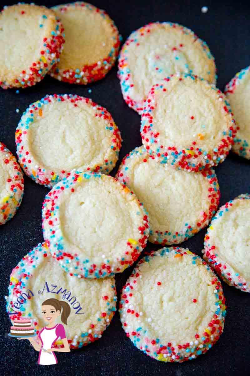 Sprinkle Butter Cookies Recipe Eggless Baking Veena
