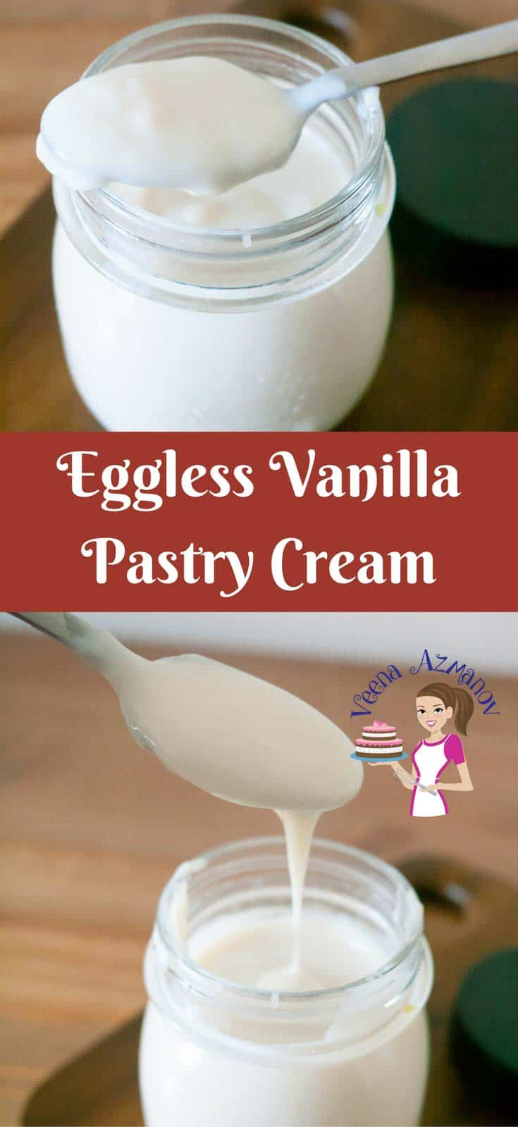 Eggless Vanilla Pastry Cream is a perfect base for many desserts such as fruit tarts, mousses, Bavarian Creams Ice-cream etc. Compared to the Classic made with egg yolks this one is less on the calories and more healthy to indulge in without loosing any of the silky smooth goodness.