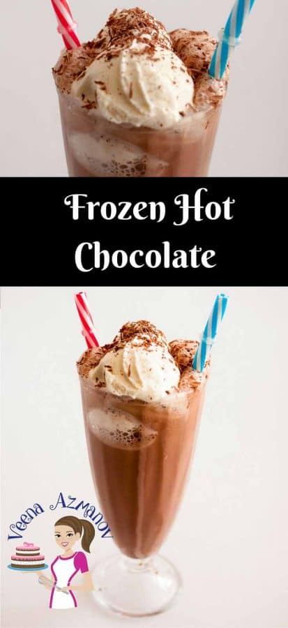 While a hot chocolate warms you in winter a frozen hot chocolate has a amazing cooling effect in summer. This drink takes barely 5 minutes to make with ingredients you probably already have in your pantry. The ultimate treat to a hot summer day.