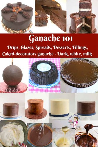 An image optimized for social media share for this Ganache Recipes 101. Everything you need to know about ganache weather you are a novice, cake decorator or advanced baker.
