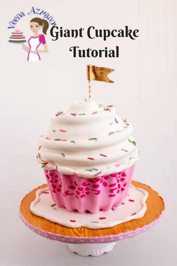 A cake decorating tutorial Pinterest image