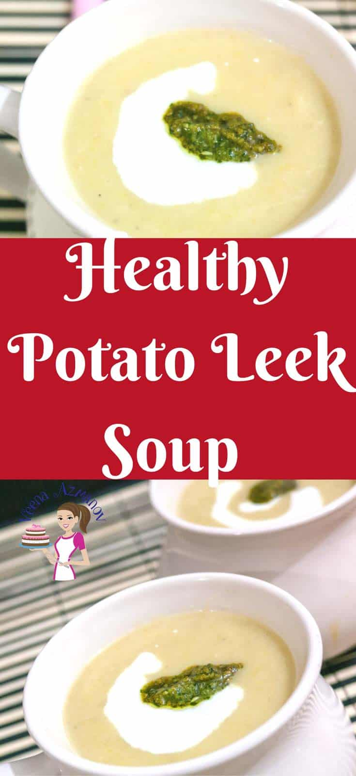 There is nothing more comforting than a bowl or warm healthy potato leek soup. This soup is simple easy and effortless so you can bring dinner on the table is less than 30 minutes. Serve this with crusty bread and a side salad you have a meal all ready. #Soup #Leek #Potato #healthy #winter #comfortfood #Soups #homemade #cooking #recipe