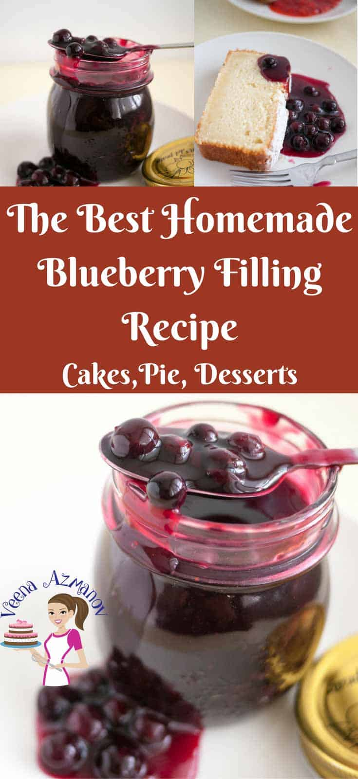This homemade Blueberry Filling Recipe is simple and easy. It can be made from fresh or frozen blueberries. This filling is so versatile it goes well as a cake filling, pie filling or on the side of a delicious dessert like my classic pound cake recipe.